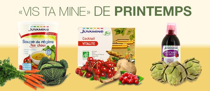 Les vitamines du Printemps pour la santé le bien-êre et bio avec Juvamine blog