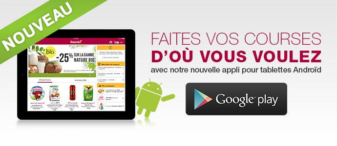 Application Android houra disponible