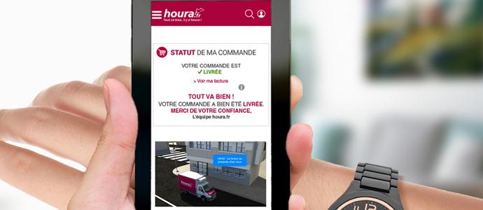 Suivre en direct sa livraison de courses ? C'est désormais possible avec houra.fr ! ED blog tracking
