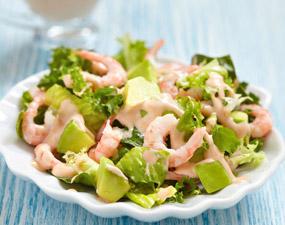 Recette de salade d'avocat aux crevettes