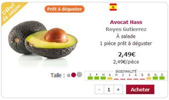 Avocat prêt à déguster chez houra.fr