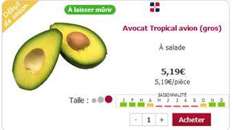 Avocat tropical chez houra.fr