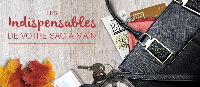 Les indispensables à mettre dans votre sac à main BLOG sac