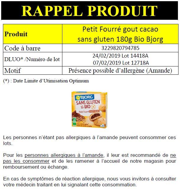 retrait qualite Bjorg INFO CONSOMMATEUR – Rappel de produit Bjorg