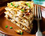 Gâteau de crêpes aux champignons