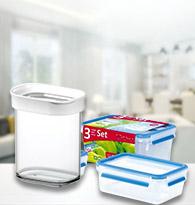Les boîtes de conservation en plastique