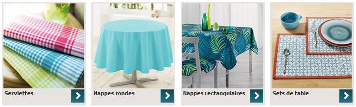 linge de table art de la table
