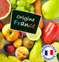 Les fruits et légumes origine France chez houra