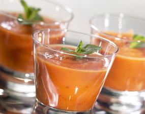 Gaspacho de tomate sans gluten