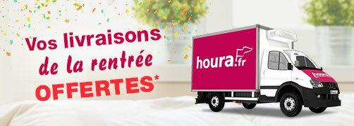 Frais de livraison offerts pour la rentrée sur houra.fr