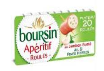 INFO CONSOMMATEUR – Rappel de produit Boursin roulés au jambon ail et fines herbes 100 g retrait boursin