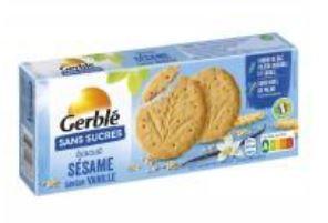 INFO CONSOMMATEUR – Rappel de produit Biscuits GERBLE Biscuits Sésame Vanille sans sucres GERBLE