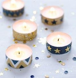 Décorations de Noël DIY bougies