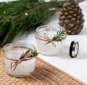Décorations de Noël DIY bougies nature