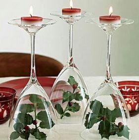 Décorations de Noël DIY bougies sur verre