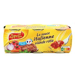Sauce italienne à la viande rôtie lot de 3x190g