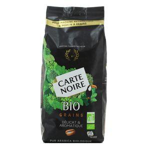 Noire Café en grains bio délicat et aromatique