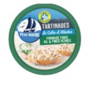 INFO CONSOMMATEUR – Petit Navire Tartinades de Colin d'Alaska Fromage frais Ail et Fines Herbes MSC 125g PETIT NAVIRE