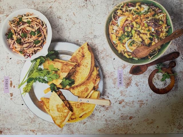 Batch Cooking Été #3 – Mes menus pour 1 semaine Batch cooking lundi et mardi