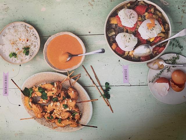 Batch Cooking Été #3 – Mes menus pour 1 semaine Batch cooking mercredi et jeudi